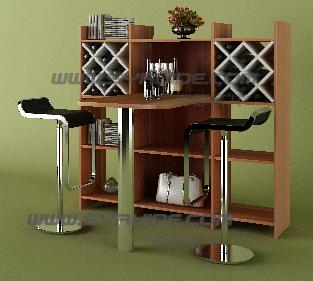 餐桌吧台酒柜三合一 定制饭桌餐边柜订做储物柜-创