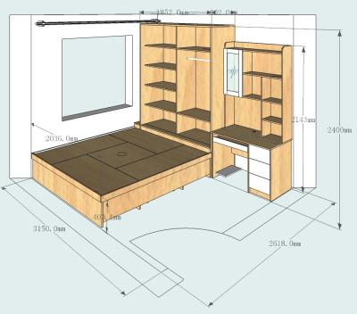 普通床的设计图纸
